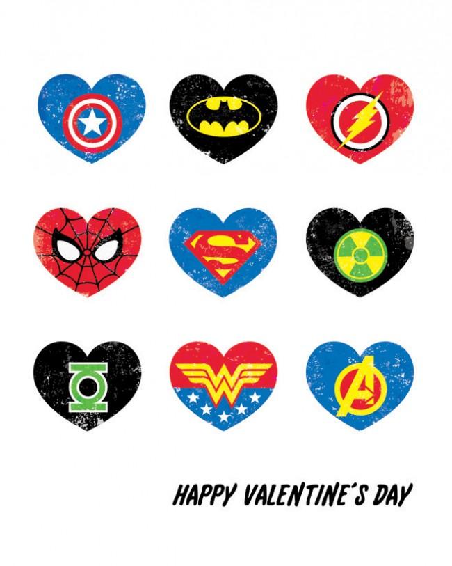 Super Hero Valentine's Day Printable