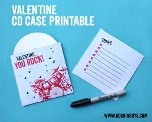 Valentine CD Case with FREE Printable