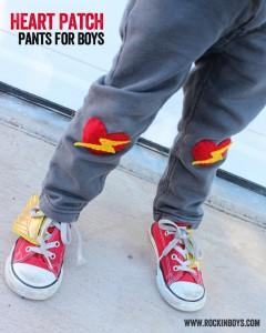 Valentine Heart Patch Pants