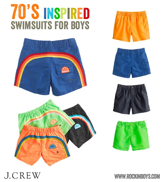J.Crew brings the 70's back in boys swimwear