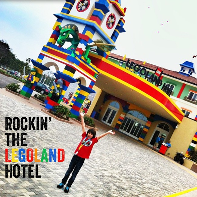 Surprise! We are staying at the Legoland Hotel