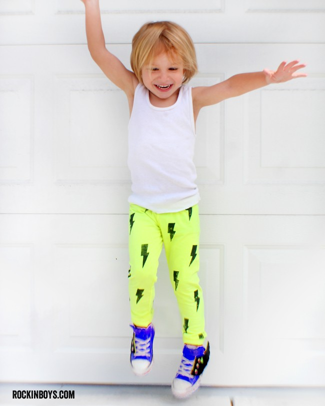 Make your own RAD boy leggings