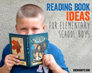 Reading Book Ideas for Elementary School Boys from The Funky Polka Dot Giraffe