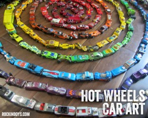 Making Art Using Hot Wheels Cars