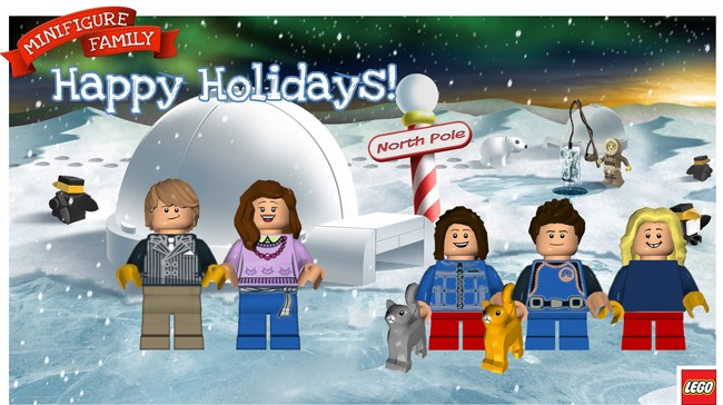 Make Your Own Custom Lego Minifigure Holiday Cards