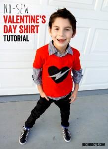 Easy No-Sew Valentine's Day Shirt Tutorial