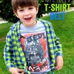 DIY Upcycled T-shirt Belt   Tutorial