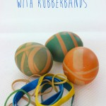 Rockin' Rubber Band Dyed Easter Eggs