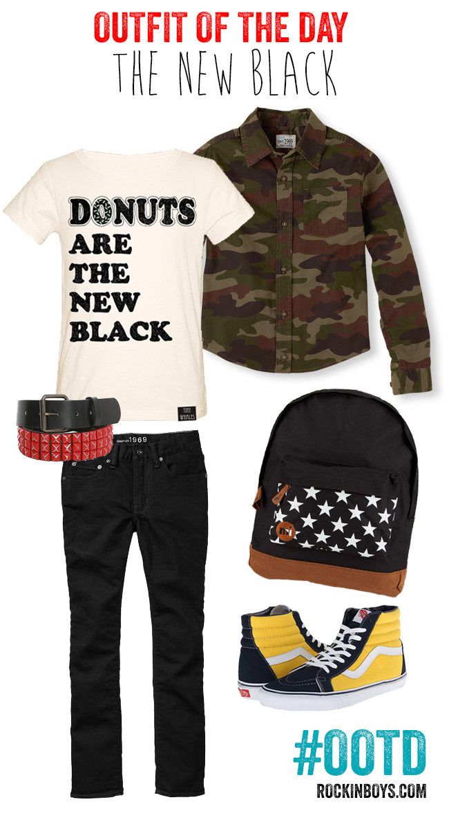 Rockin' Boys Outfit of the Day | The New Black #OOTD #boysfashion #kidsfashion #boymom