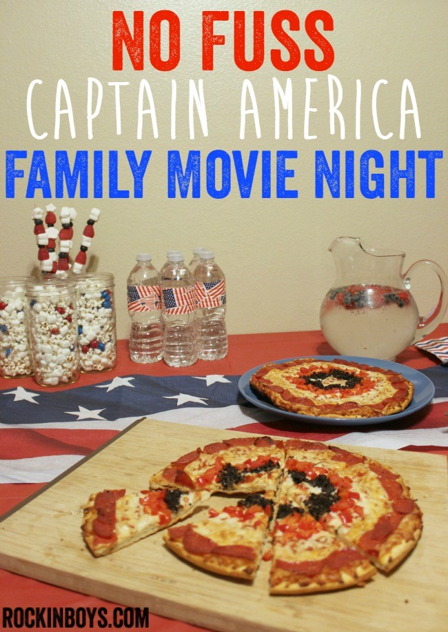 Super Easy Captain America Movie Night