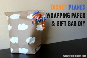 Disney Planes Inspired Wrapping Paper Bag Tutorial