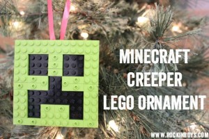 Make A Minecraft Creeper Lego Ornament!