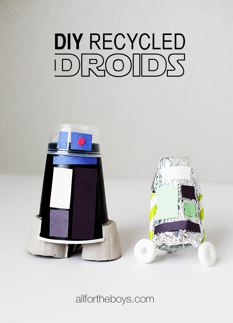 DIY Recycled Droids