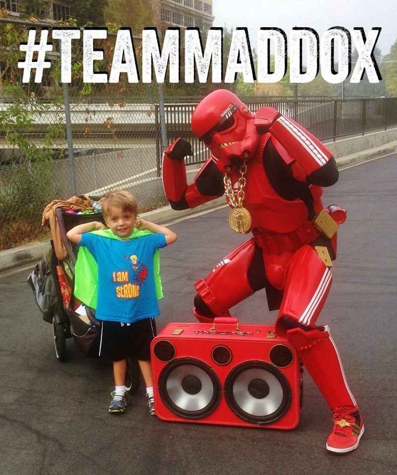 maddox and storm trooper #teammaddox