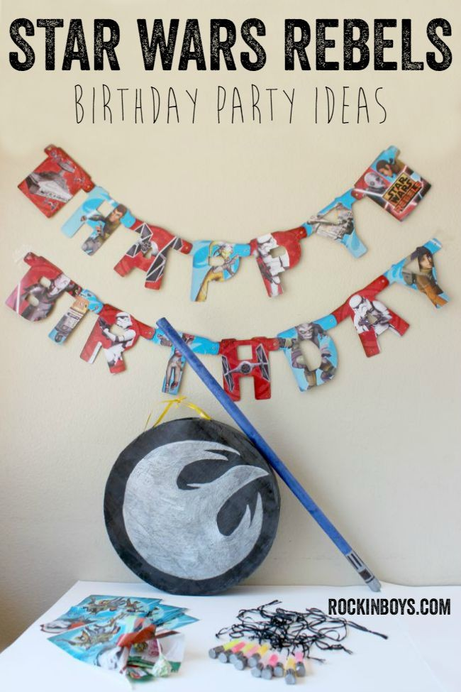 Star Wars Rebels Birthday Party Ideas with DIY Piñata Tutorial