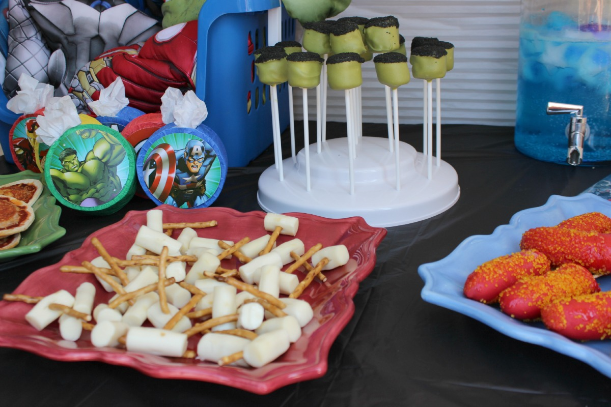Avengers Party Food Rockin Boys Club