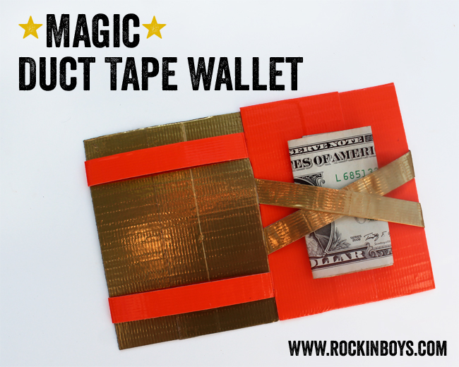 photograph regarding Duct Tape Wallet Instructions Printable titled Magic Duct Tape Wallet Information - Rockin Boys Club