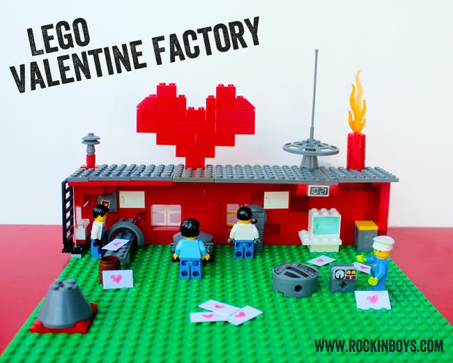 Lego valentine factory rockin 39 boys club for Creative lego ideas