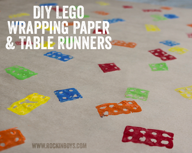 DIY Lego Wrapping Paper and Table Runners - Rockin Boys Club