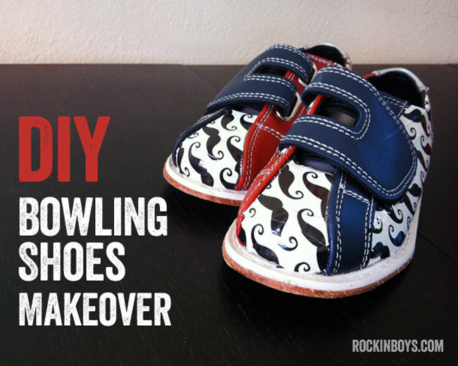 DIY Kids Bowling Shoes Makeover - Rockin Boys Club