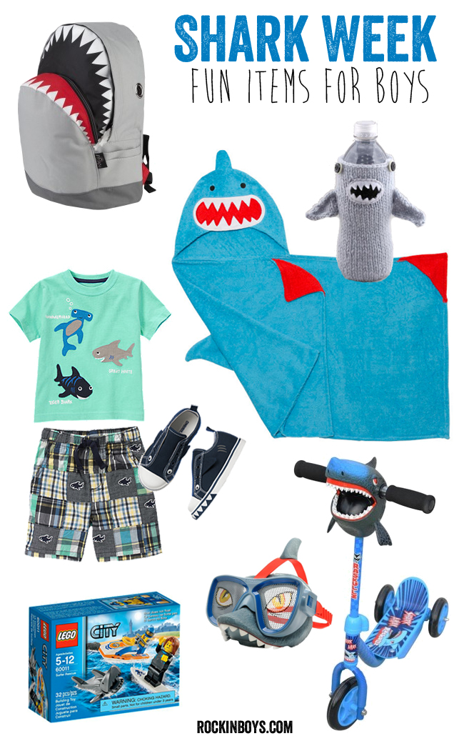 Fashion Toys For Boys : Shark toys and clothing for boys week rockin