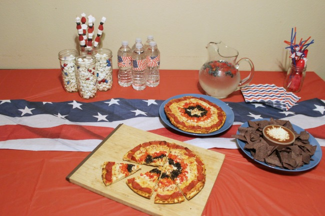 captain america party table