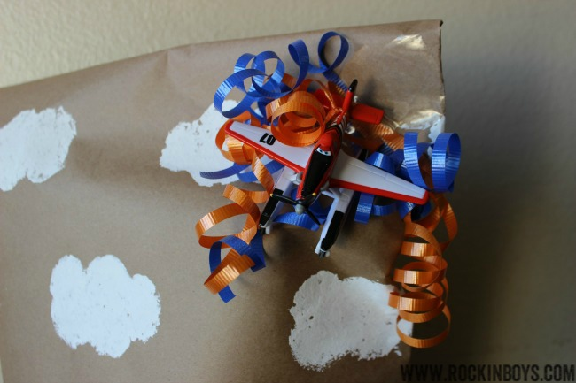 Disney Planes Party Easy Gift Wrapping Ideas