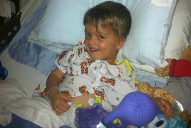 Maddox in the hospital