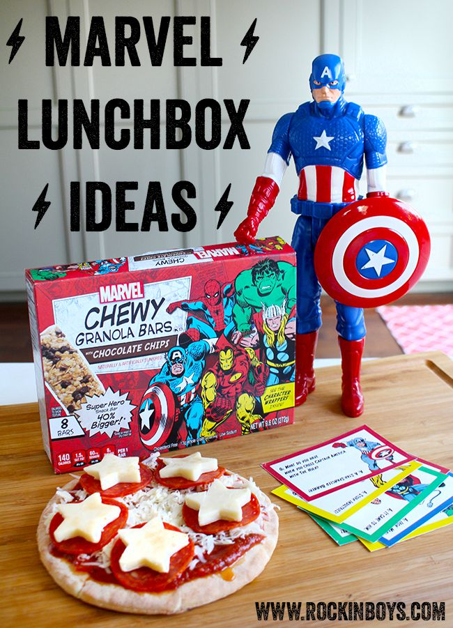 Fun Marvel Lunchbox Ideas and Printables