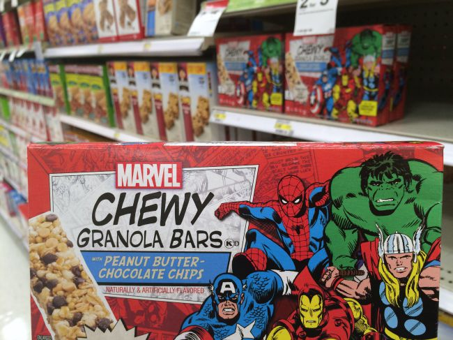 Marvel Chewy Granola Bars at Target